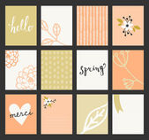 Greeting Card Templates Collection — Stock Vector