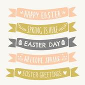 Easter Typographic Design Banners — Stock Vector
