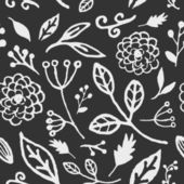 Hand Drawn Floral Seamless Pattern — Stock Vector