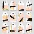 Abstract Brush Strokes Labels Collection — Stock Vector #70169831