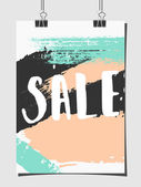 Abstract Brush Strokes Sale Poster — Stock Vector