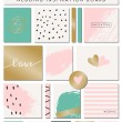 Romantic Wedding Paper Collection — Stock Vector #70201451
