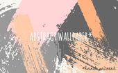 Abstract Brush Strokes Wallpaper Design — Stock Vector