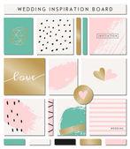 Romantic Wedding Paper Collection — Stock Vector