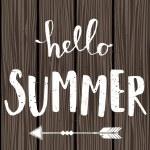 Typographic Summer Design — Stock Vector #70836039
