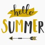 Typographic Summer Design — Stock Vector #70836447