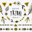 Tribal Design Elements Collection — Stock Vector #70837713