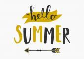 Typographic Summer Design — Stock Vector