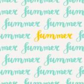 Typographic Design Summer Seamless Pattern — Stock Vector