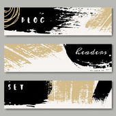Hand Drawn Web Headers Collection — Stock Vector