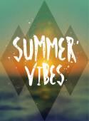 Summer Vibes Poster Design — Stock Vector