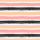 Hand Drawn Striped Seamless Pattern — Stock Vector