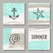 Summer Design Cards Collection — Stock Vector
