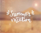 Summer Vacation Hand Lettered Design — Stock Vector