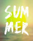 Summer Hand Lettered Design — Stock Vector