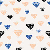 Diamond Shapes Seamless Pattern — Stock Vector