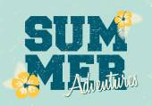Retro Style Summer Typographic Design — Stock Vector