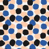 Hand Drawn Circles Seamless Pattern — Stock Vector