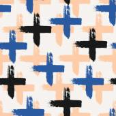 Hand Drawn Cross Shapes Seamless Pattern — Stock Vector