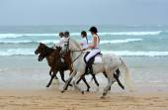 Beach riders — Stock Photo