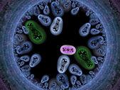 Las bacterias del fondo render — Foto de Stock