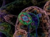 Human tissue under a microscope — Stock Photo
