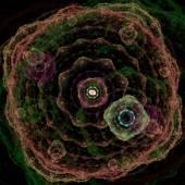 симметричный рост бактерий — Стоковое фото