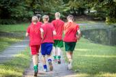 Young male runners — Stock Photo
