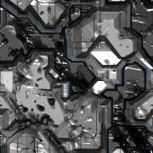 Bezszwowe tło sci-fi — Zdjęcie stockowe