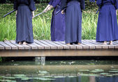 Kendo  practitioners — Stock Photo