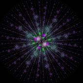 Symmetriska tillväxten av bakterier — Stockfoto