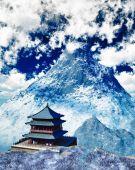 Buddhist temple in Tibet — Stock Photo