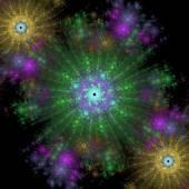对称生长的细菌 — 图库照片