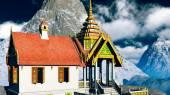 Budist tapınağı Dağları — Stok fotoğraf