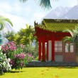 Buddhist shrine in the mountains — Stock Photo #57298343
