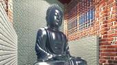 Buddha statue in temple — Stock Photo