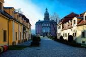 Court in Polish castle — Zdjęcie stockowe