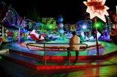 Funfair at night — Stock Photo