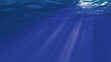 Underwater sunrays — Stock Video