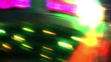 Fairground at night in city — Stock Video