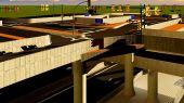 Under the highway. Urban scene — 图库照片