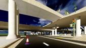 Under the highway. Urban scene — Stock Photo