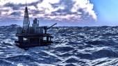 Plataforma petrolífera — Fotografia Stock