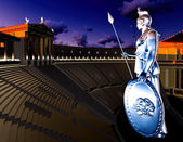 Greek Athena in theatre — Stock Photo
