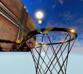 Basketbal hoepel — Stockfoto