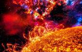 Surface of the sun — Stock Photo