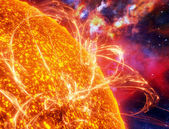 Surface of the sun — Stock Photo