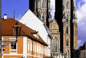 Wroclaw Cathedral in Ostrow Tumski, Poland — Stockfoto