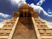 Sairs of Mayan temple — Fotografia Stock