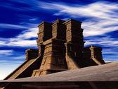 Лестницы храм майя — Стоковое фото